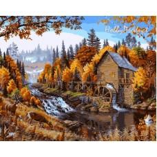 Картина по номера - Воденица в гората GX 24059