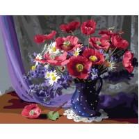 Цветя в синята ваза - Картина по номера - GX 24273