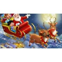 Комплект за рисуване по номера - Санта бърза
