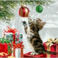 Коледно котенце