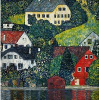Картина по номера - Дома в Унтерах-на-Аттерзе – Густава Климта  GX 6447