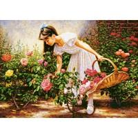 Картина по номера - Момиче с кошница GX 8848