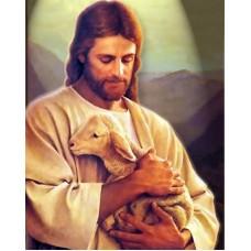 Исус и агнето - диамантен гоблен 45059