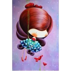 2003  Диамантен гоблен - момиченце с цветя