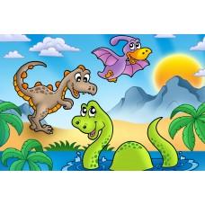 2012   Диамантен гоблен -Динозаври