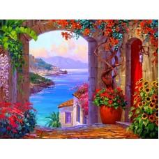 34023 Диамантен гоблен -  Море и цветя