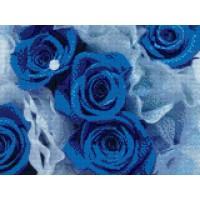 FL 34042 Диамантен гоблен - Сините рози
