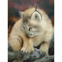 34044 Диамантен гоблен -  Мъркаща котка