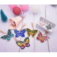 Ключодържател с диаманти- Пеперуди