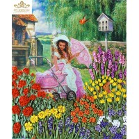 Бродерия с ленти Цветна градина