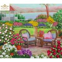 Бродерия с ленти  Цъфтяща градина