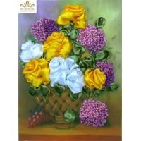 Бродерия с ленти  Страхотни рози