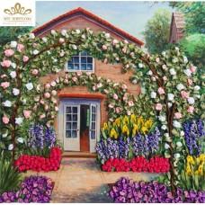 Бродерия с ленти  Розова градина