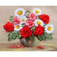 Бродерия с ленти  - Рози и лайка НЛ-4017