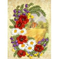 Бродерия с ленти  - Къща в диви цветя