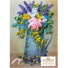 Бродерия с ленти  - Чудесни цветя