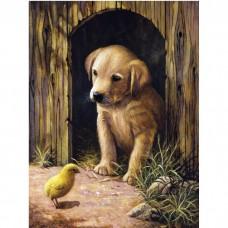 Картина по номера - Куче и пиле ZG-0289