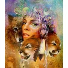 Картина по номера - Царица на звярите  ZG-0313