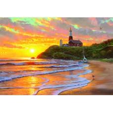 Картина по номера - Залез в морето ZG-0320