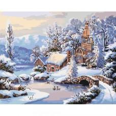 Картина по номера - Зимно езерце  ZG-0378