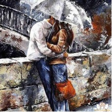 Картина по номера - Под дъжд ZP-093