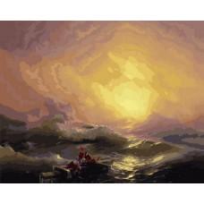 Картина по номера - Бурно море ZP-116