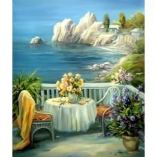 Картина по номера - Тераса край морето ZG-3174