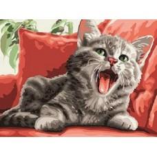 Картина по номера - Котка на дивана ZE-3215