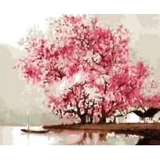 Картина по номера -  Сакура ZE-3231