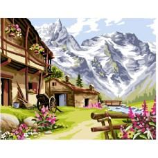 Рисуване по числа - Планинска къща