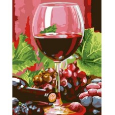 Рисуване по числа - Чаша червено вино