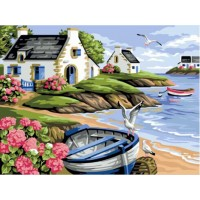 Рисуване по числа - рибарска лодка