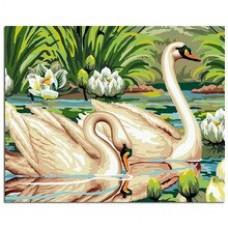 Рисуване по числа - Бели Лебеди