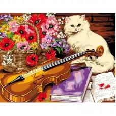 Рисуване по числа - Котка с цигулка