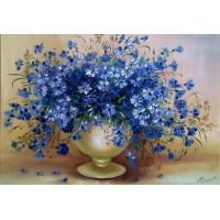 Картина по номера- Сини цветя GX 22871
