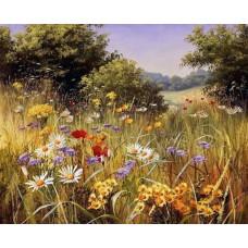 Комплект за рисуване по номера. Пейзаж с полски цветя – GX 22872