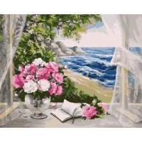 букет край морето - комплект за рисуване по номера