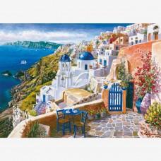 НАЛИЧЕН СЛЕД 5 ЮНИ Картина по номера - Санторини  GX 9589