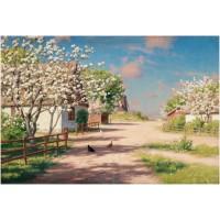 Картина по номера - Пролет на село  GX 9918