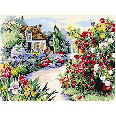 Рисуване по числа - Цветна градина