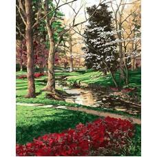 Картина по номера - Червена пътека в гората GX 25345