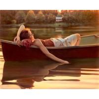 Картина по номера - Момиче в лодката GX 23759