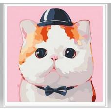 22002 Диамантен гоблен - Коте в шапка