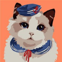 22005 Диамантен гоблен- Коте моряк