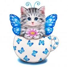 22015 Диамантен гоблен -Коте с крила
