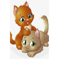 2014  Диамантен гоблен Две котенца