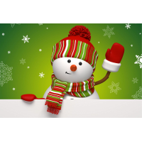 RZ 23027 Диамантен гоблен- Снежно човече
