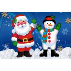23028 Диамантен гоблен - Санта и снежен човек