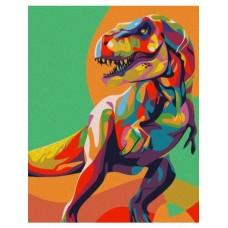 Комплект за рисуване по номера - Динозавър. СХ 3219
