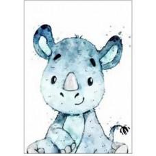 GI 203043 Диамантен гоблен - Носорог